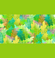 abstract trees forest foliage colorful seamless vector image