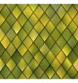 Abstract Yellow Green Rhombus Mosaic Seamless vector image