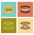assembly flat icons back to school bus vector image vector image