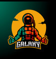astronaut logo vector image
