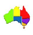 australian map vector image vector image