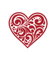 beautiful heart with a pattern vector image vector image