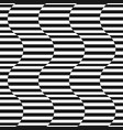 black and white stripes seamless pattern vector image