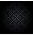 Black damask background vector image vector image