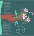 bouquet of flowers image vector image vector image