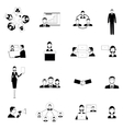 Business meeting flat icons set vector image