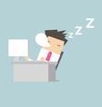 Businessman sleep during working vector image vector image