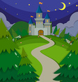 Castle towers at night vector image vector image
