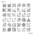 charts diagrams outline icons perfect pixel vector image vector image