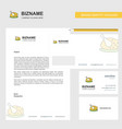chicken meat business letterhead envelope and vector image