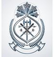 Classy emblem heraldic Coat of Arms vector image vector image