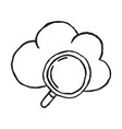 cloud hand drawn outline doodle icon vector image vector image