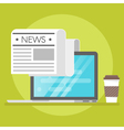 concept of online news vector image