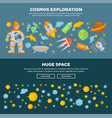 cosmos exploration and huge space promotional vector image vector image