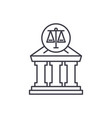 court line icon concept court linear vector image vector image
