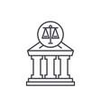 court line icon concept court linear vector image