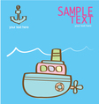 creative with a pink submarine vector image vector image