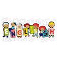 design concept word english website banner vector image
