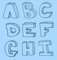 English alphabet - hand drawn vector image vector image
