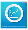 growing graph icon abstract blue web sticker vector image