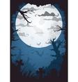 halloween blue spooky a4 frame border with moon