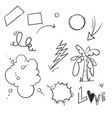 hand drawn doodle element isolated vector image vector image