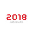 happy new year 2018 text in style origami design vector image