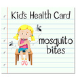 Health card with mosquito bites vector image vector image