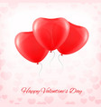 heart red transparent balloon vector image vector image