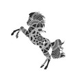 horse with ornaments vector image