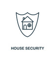 house security thin line icon creative simple vector image