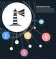 lighthouse icon with the background to the point vector image