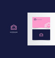love house logo mark with business card template vector image vector image