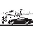 luxury car service from airport vector image vector image