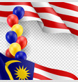 malaysian patriotic template with copy space vector image vector image