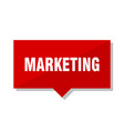 marketing red tag vector image vector image