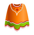 mexican poncho icon cartoon style vector image