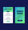 newsletter email design template and vertical vector image
