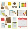 notebooks agenda business notes collection vector image vector image