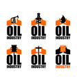 Oil industry logo petroleum production sign Logo vector image