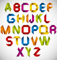 Origami style font with colorful letters vector image vector image