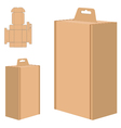 Packaging Box for Brown Paper isolated on white vector image