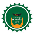 patrick day label with an abstract irish elf vector image