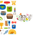 pets background with pet shop icons vector image vector image