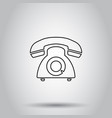 phone icon in line style on isolated background vector image