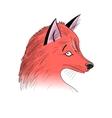 portrait of Fox vector image