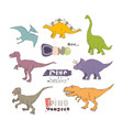 prehistoric creatures cartoon dinosaur vector image