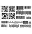 product barcodes industrial barcode qr code and vector image vector image
