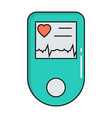 pulse oximeter simple medicine icon in trendy vector image