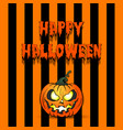 pumpkin happy halloween vector image